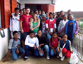 "Our last day with all the students at ""Wonderful College"" - the high school directed by our friend Tahina, and where we taught English every month while we were living in Antsirabe."