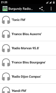 Burgundy Radio Stations - screenshot