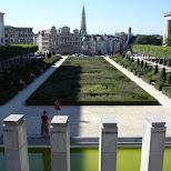 jardin du mont des arts in Brussels, Brussels, Belgium