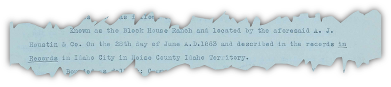 Port of a Gem County, Idaho deed