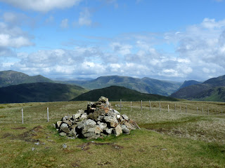 Gavel Fell Summit with Hen Comb and a little bit of Fleetwith Pike.