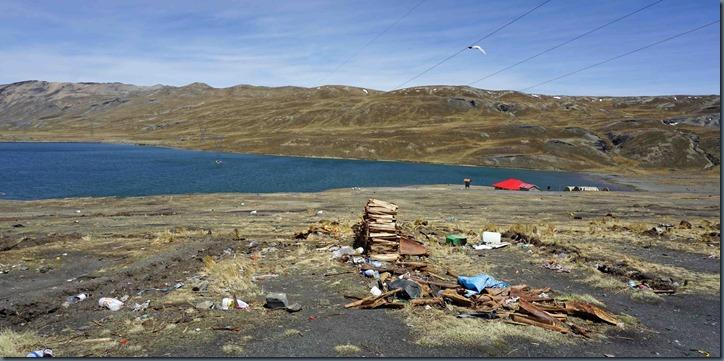 El Cumbre Opferstätte für Pacha Mama