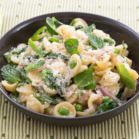 Creamy Lemon Pasta with English Peas, Mint & Garlic Breadcrumbs Recipe ...