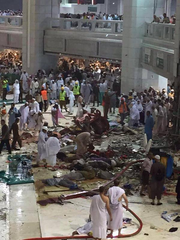 Image of Video Footage of Makkah Tragedy