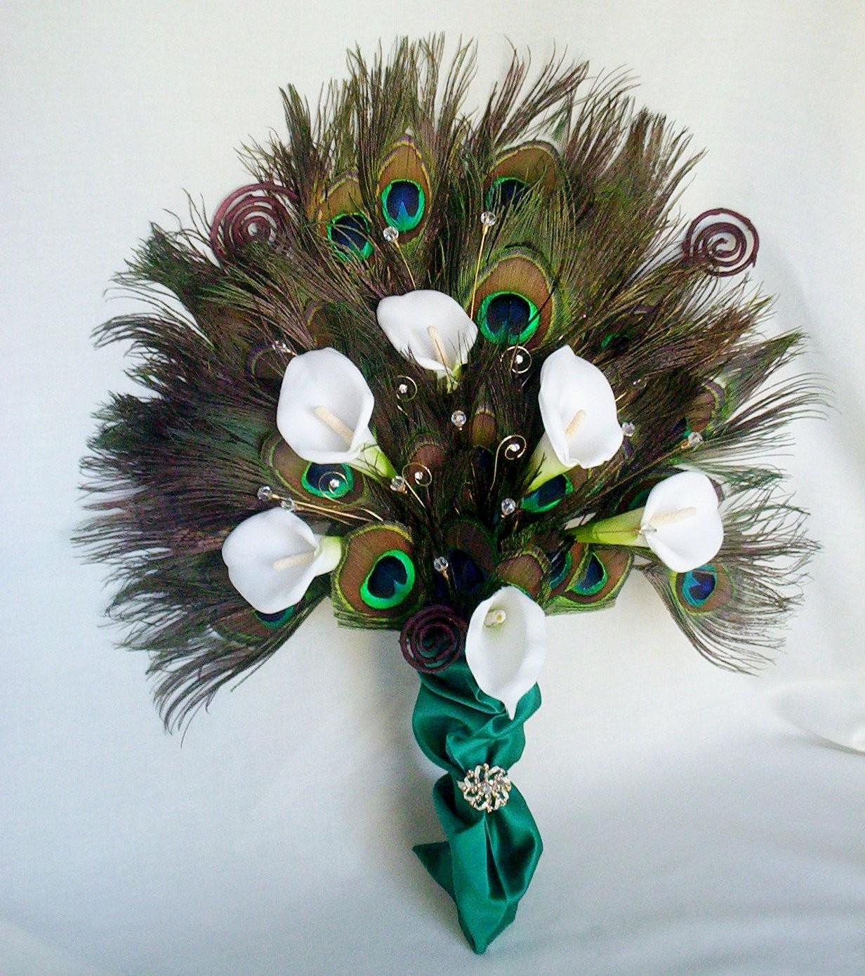 Peacock Fan Exquisite Bridal
