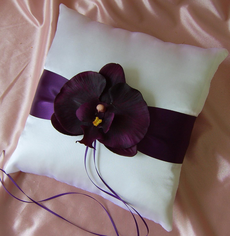 tri fold purple damask wedding