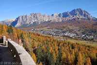Letzter Blick auf Cortina d'Ampezzo.