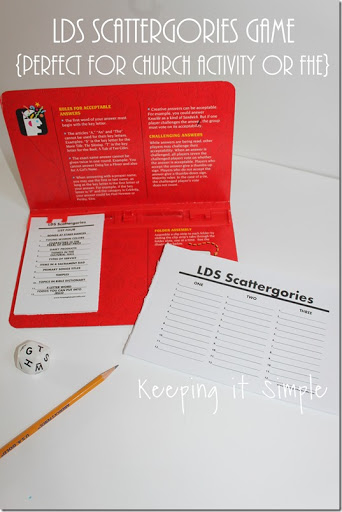 graphic about Scattergories Answer Sheets Printable titled LDS Scattergories Sport Printable- Suitable for Church