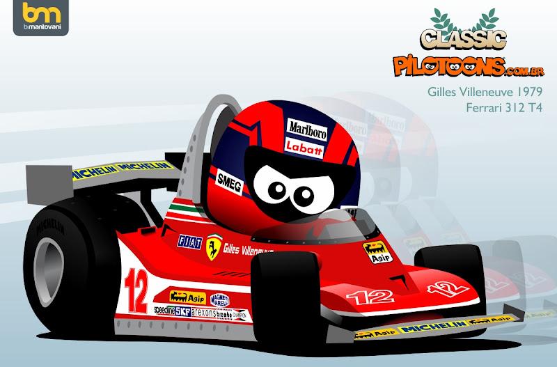 Жиль Вильнев Ferrari pilotoons