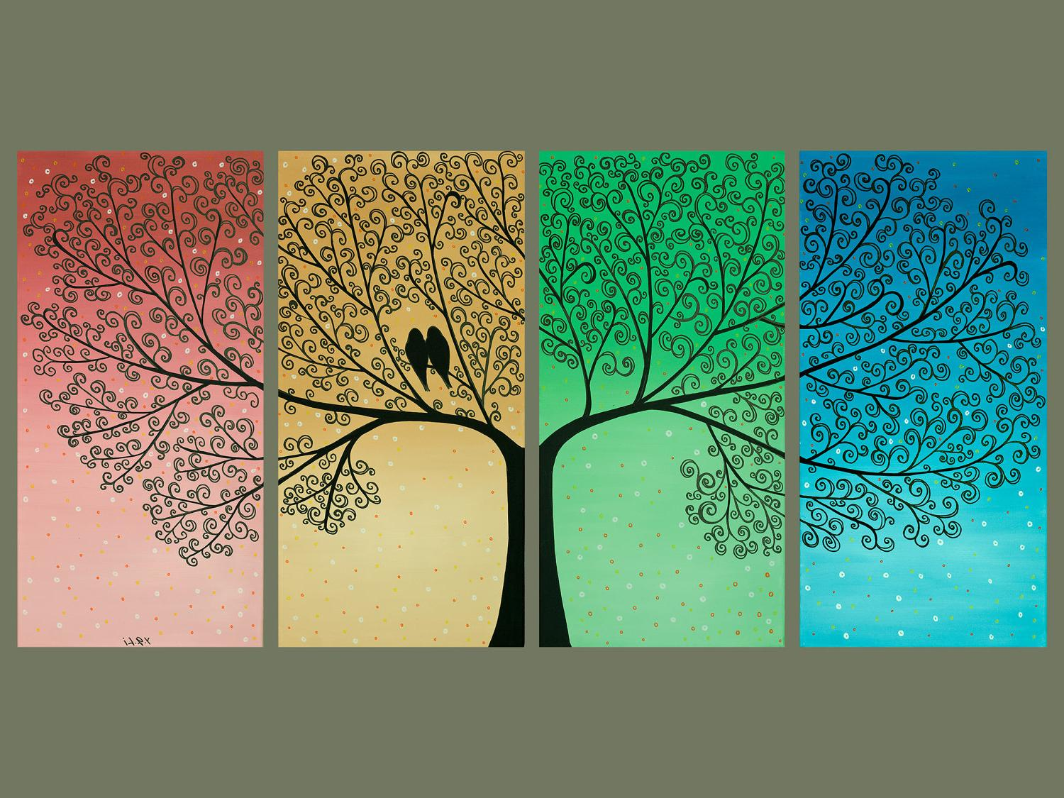 Tree Birds Wall Decor The