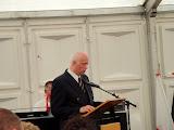 De voorzitter van onze NWB tijdens de officiële opening.