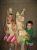 Hannah and Bryan inside the Parthenon replica in Nashville TN 09032011
