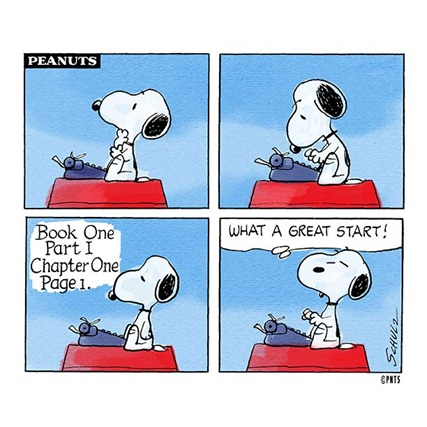 Snoopy Writing Comic