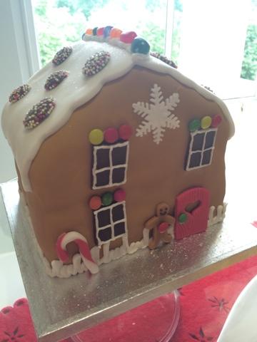 Gingerbread House Cake - Little House Lovely - Festive Food