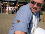 A butterfly on Jeff's arm at the Nashville Zoo 09032011