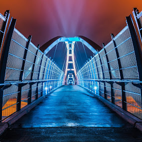 Tynehead by Scott Hemenway - Buildings & Architecture Bridges & Suspended Structures ( tynehead park, color, colorful, tynehead overpass, overpass, nikon d800, delta, surrey, nikon 24-70 2.8, long exposure, bridge )