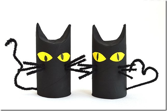 manualidad halloween gatos negros (2)