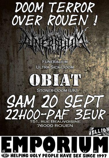 Funeralium / Obiat @ Emporium Galorium, Rouen 20/09/2009