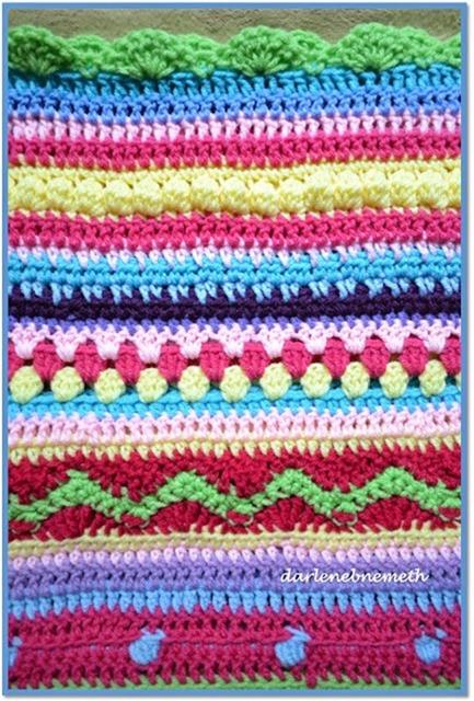 Crocheted Stitch Sampler Blanket 2