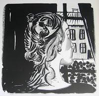 Dej BAO. 056 . Un Chemin dans la Pierre . 1978 .Lithographie . 73 x 55 cm