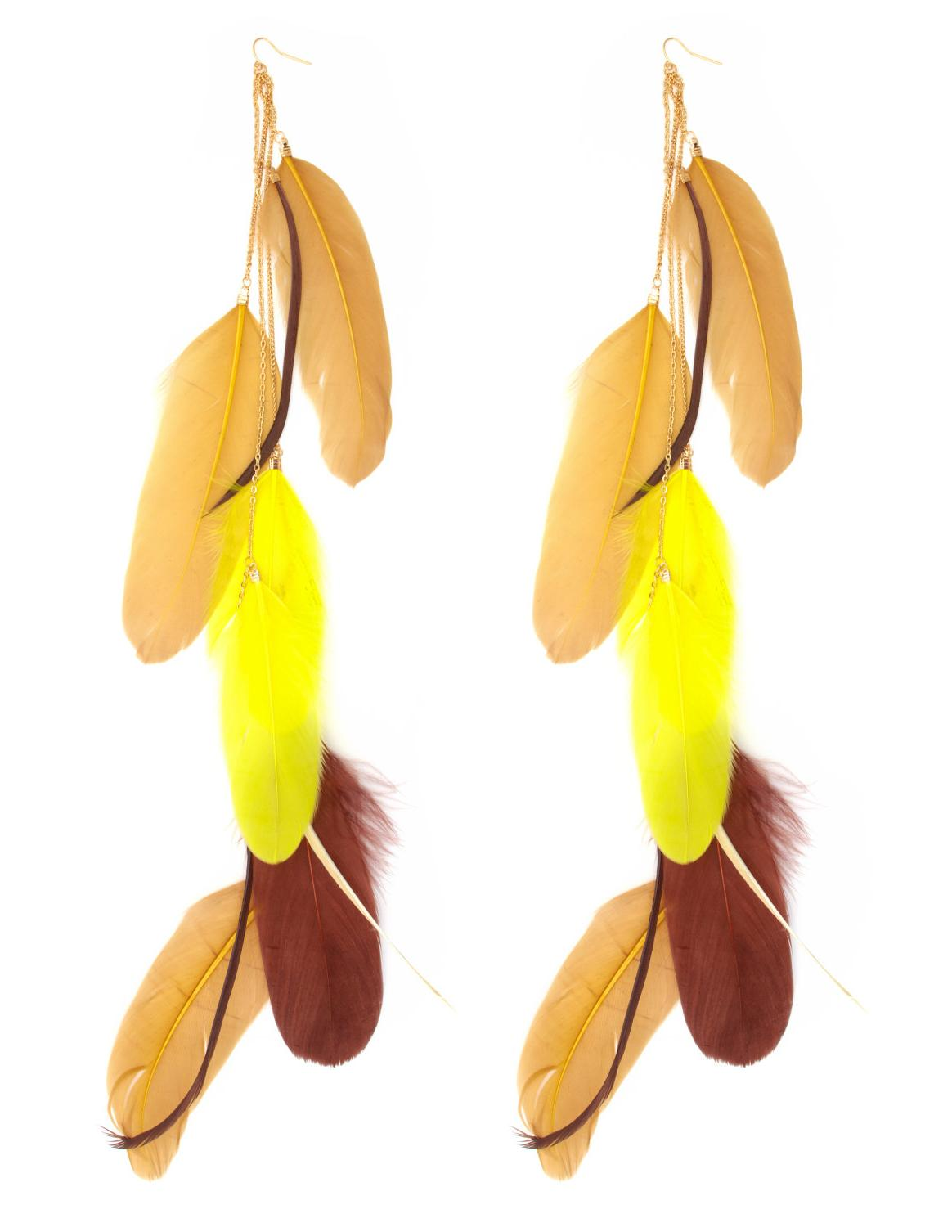 Extra-Long Feather Earrings
