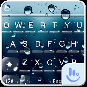 Water Screen Keyboard Theme For PC