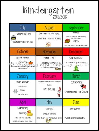 Kindergarten Plans 2015-2016