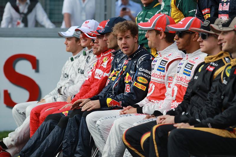 Себастьян Феттель на фотоссессии Гран-при Австралии 2012
