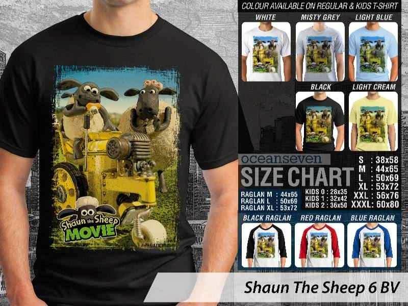 Kaos Movie Shaun The Sheep 6 distro ocean seven