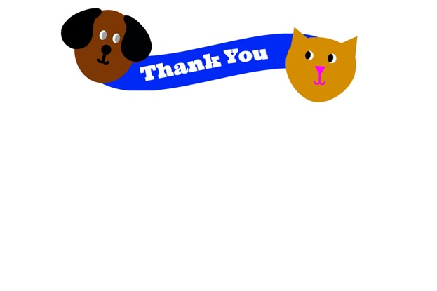 Cat and Dog Party Thank You Cards