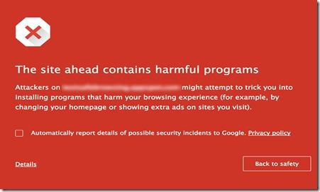 Chromen suojausvaroitus