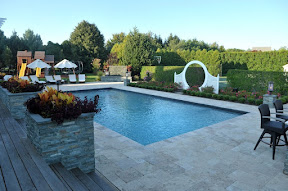 20' x 40' Gunite Pool with Black Slate Tile - Southampton, Long Island NY