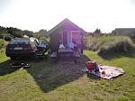 Vores hytte på campingpladsen i Klitmøller