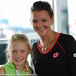 Agnieszka Radwanska & a lucky fan