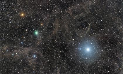Estrela Polar e o cometa Lovejoy