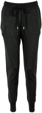 MARKUS LUPFER Black Lurex Cuffed Ankle Joggers, VeryExclusive.com