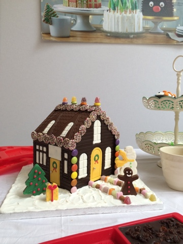 Chocolate Gingerbread House - Little House Lovely - Festive Food