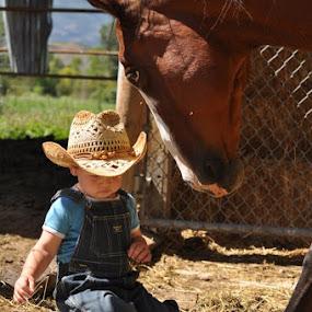 by Timothy Stevenson - Babies & Children Children Candids ( cowboy, horse,  )