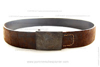 Prussian brown belt with buckle