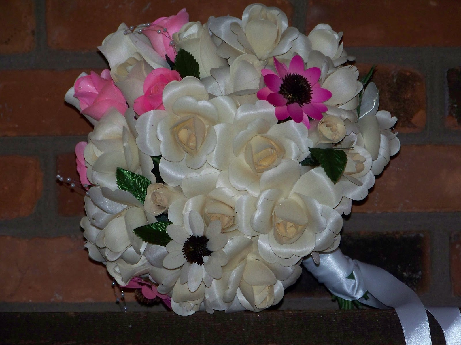 Fully open bridal bouquet,