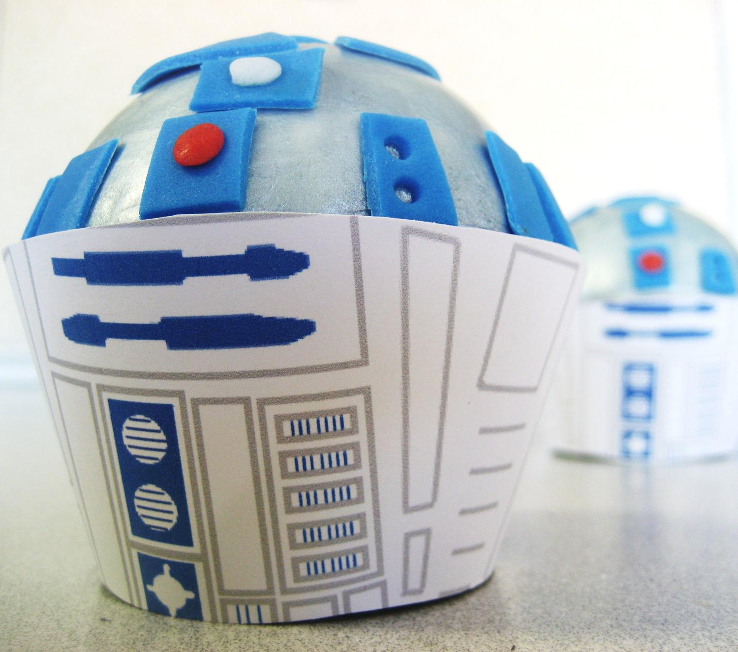 Star Wars R2D2 CUPCAKE Toppers