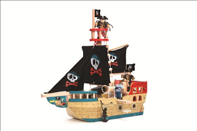 Le Toy Van TV341 Wooden Jolly Pirate Ship - Christmas Gift Guide - Emma in Bromley