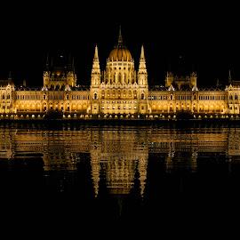 Budapest Parliament by Pol Lo Schienato - Buildings & Architecture Public & Historical ( parliament, budapest, vacation, sony alpha, danube )