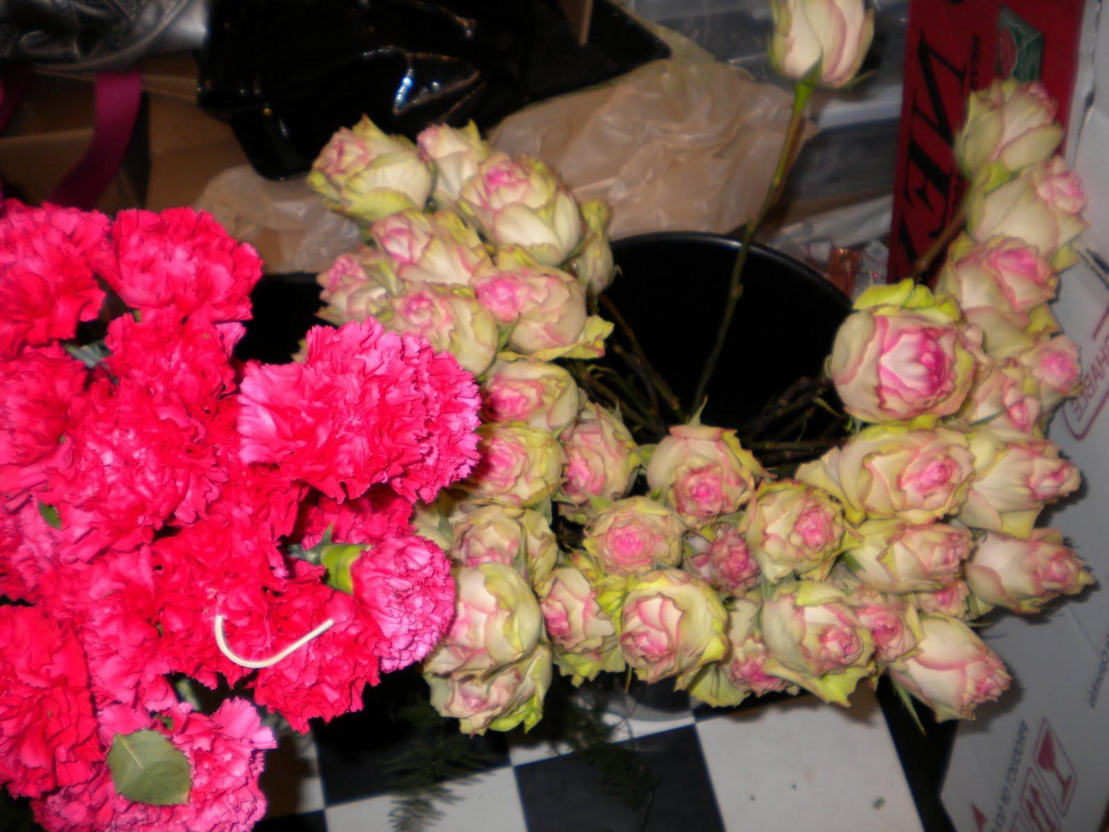 bouquets and the hot pink