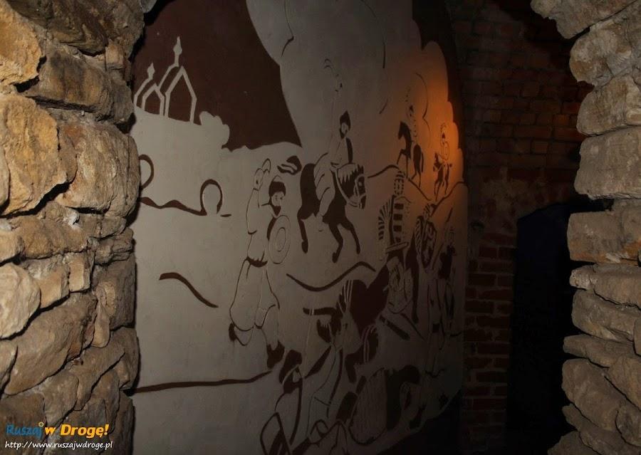 Sandomierz malowidła na podziemna trasa turystyczna