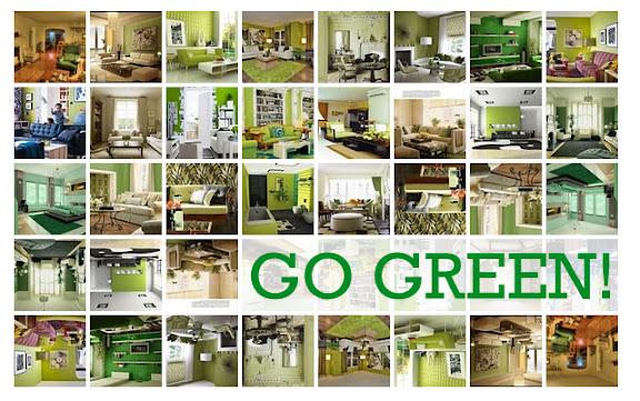 tolle wohnzimmer, schlafzimmer und badezimmer im frischen grün