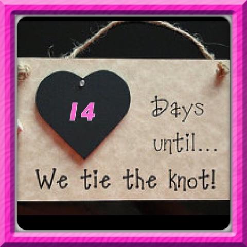 Wedding Day Countdown 14 Days To Go