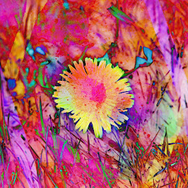 Psychedelic Posey by Judy Lott - Digital Art Things ( abstract, psychedelic colors, bellingham, nature, colors, art, transformation )