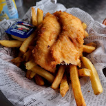 fish & chip place in Tobermory in Tobermory, Ontario, Canada