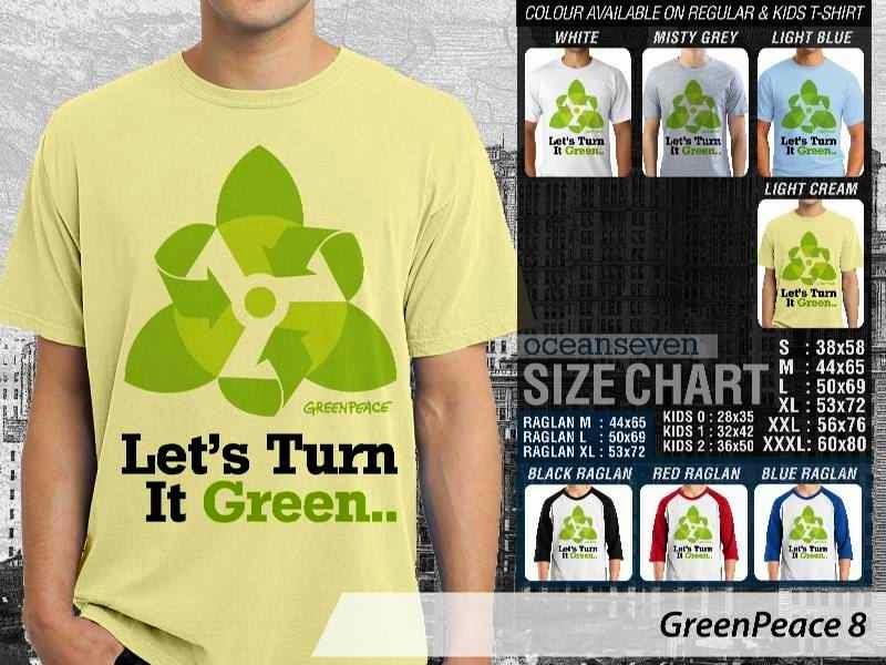 KAOS Cinta Bumi GreenPeace 8 | KAOS Selmatkan Bumi greenpeace turn green distro ocean seven